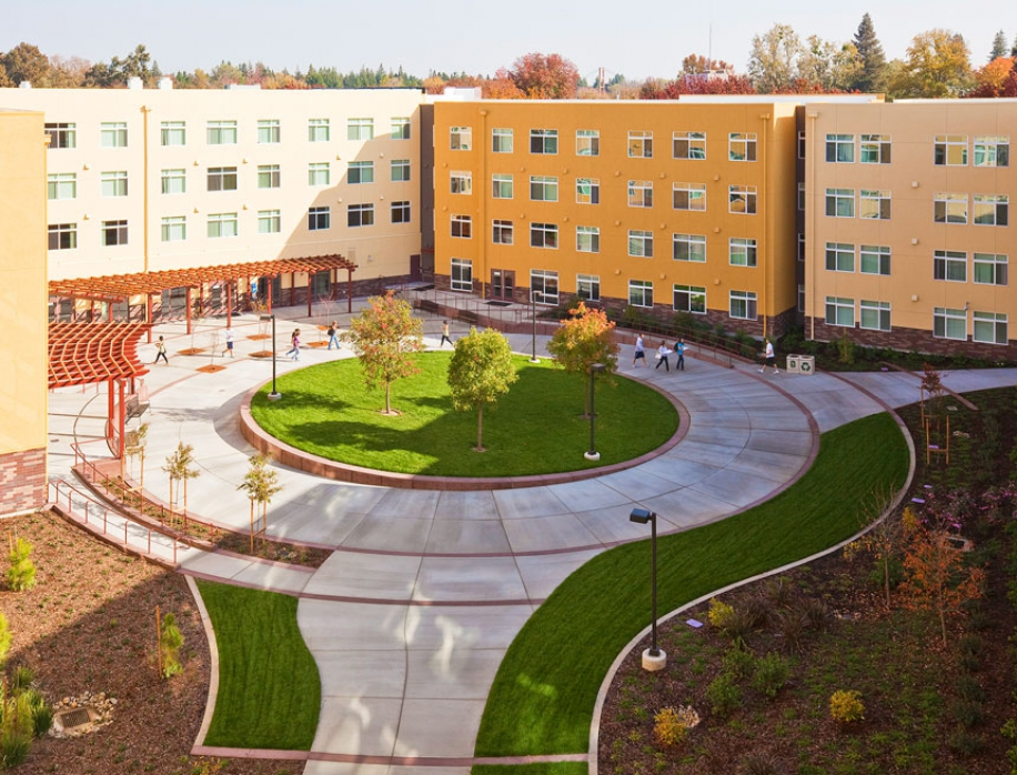 American River Courtyard at Sacramento State